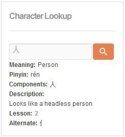 Character Lookup